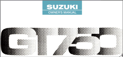 Suzuki GT750 Owners Manual Booklet